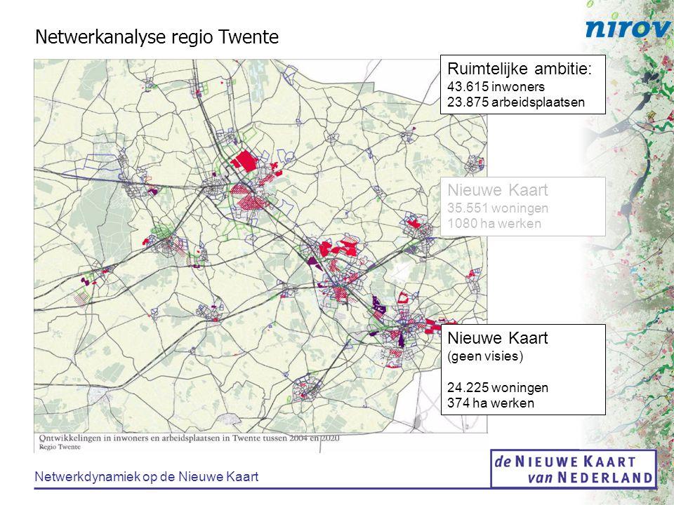 Netwerkdynamiek op de Nieuwe Kaart Netwerkanalyse regio Utrecht Ruimtelijke ambitie: 65.500 woningen 125.000 arbeidsplaatsen