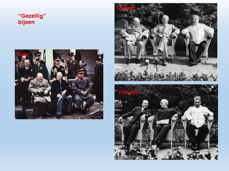 Gezellig bijeen Potsdam Jalta Teheran
