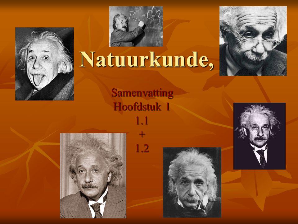 Natuurkunde, Samenvatting Hoofdstuk 1 1.1+1.2
