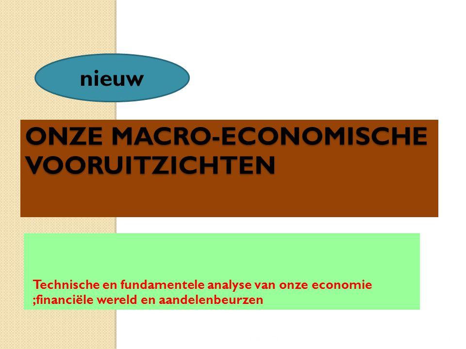 ONZE MACRO-ECONOMISCHE VOORUITZICHTEN Technische en fundamentele analyse van onze economie ;financiële wereld en aandelenbeurzen 15/04/20155 nieuw