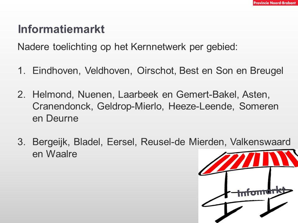Informatiemarkt Nadere toelichting op het Kernnetwerk per gebied: 1.Eindhoven, Veldhoven, Oirschot, Best en Son en Breugel 2.Helmond, Nuenen, Laarbeek