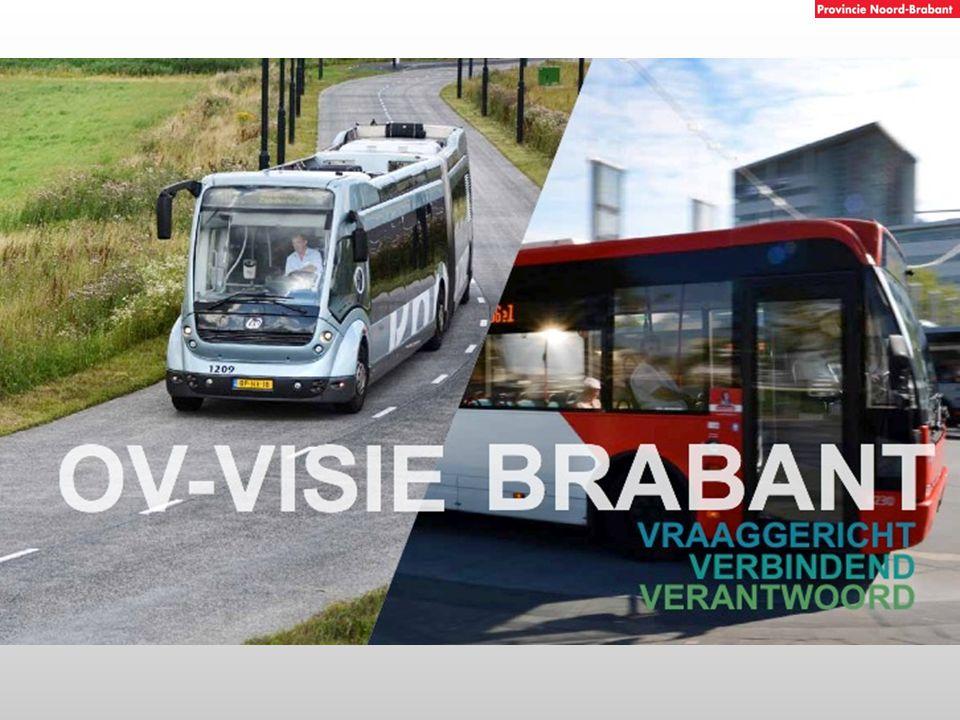 Spoor Rijksconcessie (NS) HOV Provinciale Stads- en streeklijnen concessie Buurtbussen (Arriva/Hermes) KMO* Subsidieregeling PNB *KMO = kleinschalige mobiliteitsoplossingen Opbouw OV-systeem