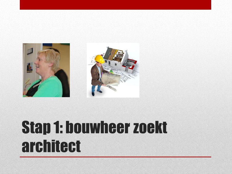 ? Stap 1: bouwheer zoekt architect