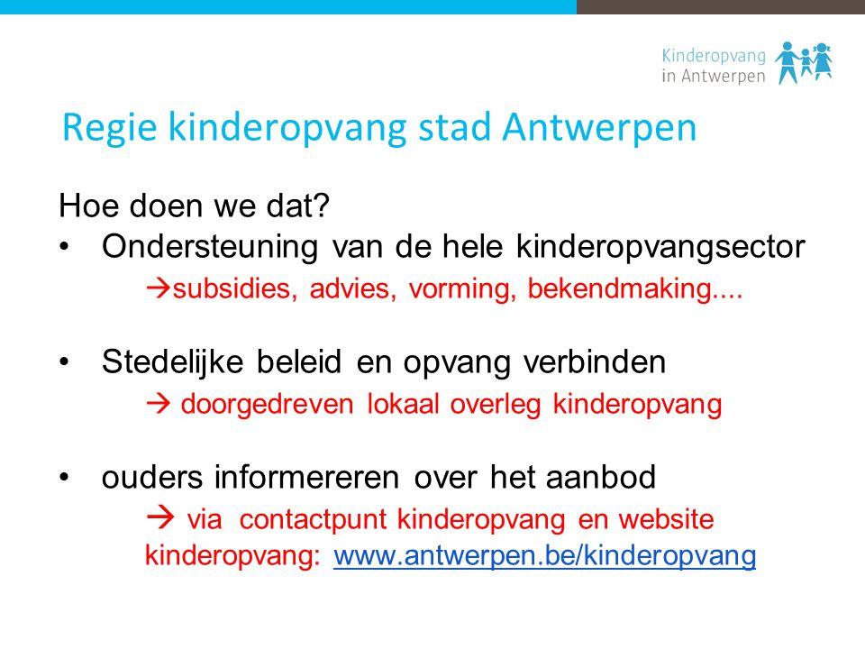 Regie kinderopvang stad Antwerpen Hoe doen we dat.