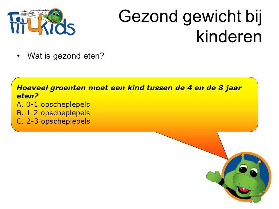 Gezond gewicht bij kinderen Wat is gezond bewegen.