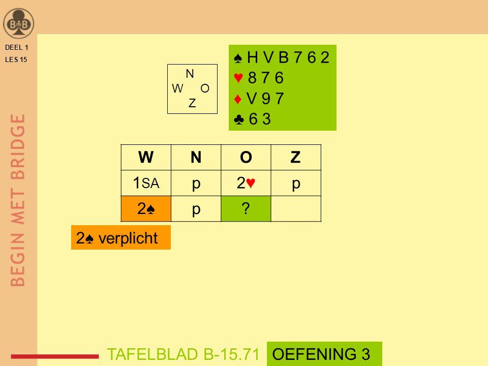 N W O Z WNOZ 1 SA p2♥2♥p 2♠2♠p.