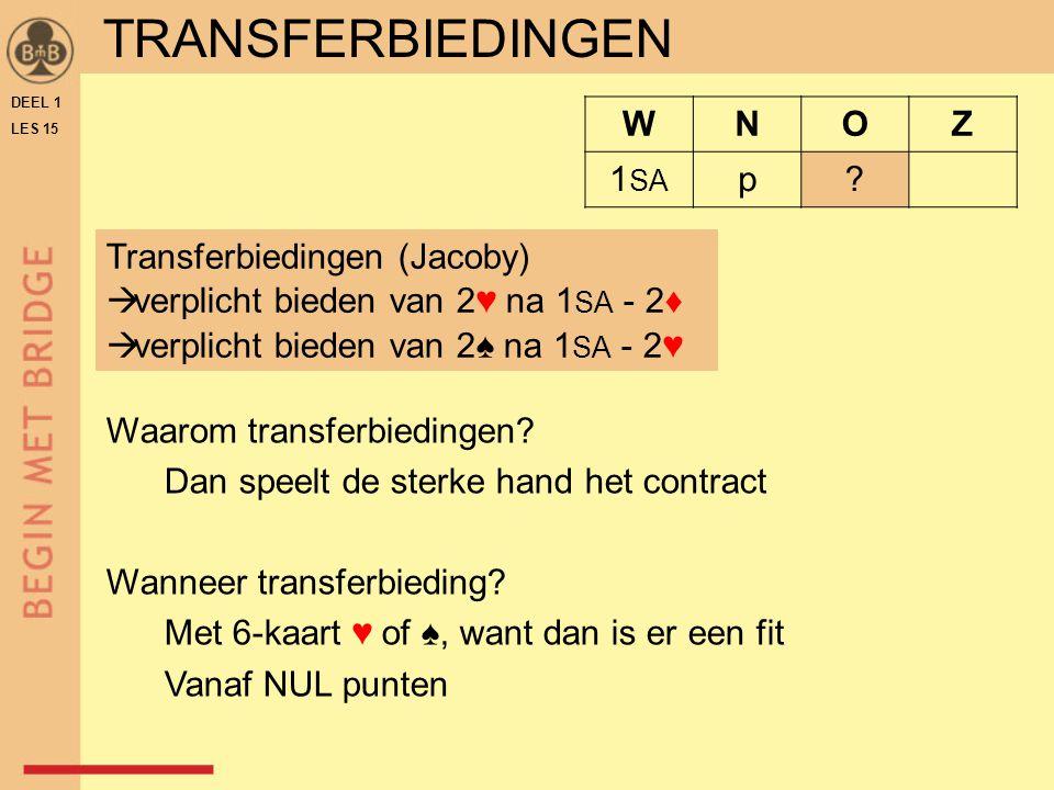 TRANSFERBIEDINGEN WNOZ 1 SA p.