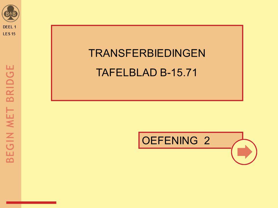 TRANSFERBIEDINGEN TAFELBLAD B-15.71 OEFENING 2 DEEL 1 LES 15