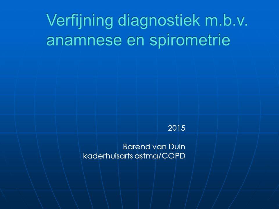 2015 Barend van Duin kaderhuisarts astma/COPD