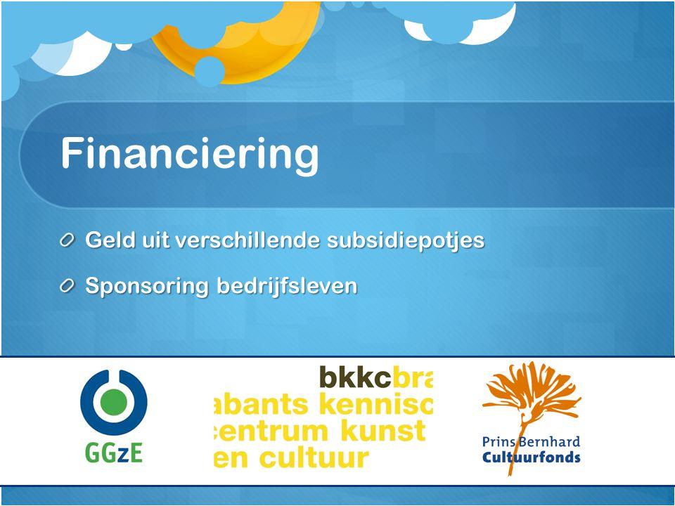Financiering Geld uit verschillende subsidiepotjes Sponsoring bedrijfsleven