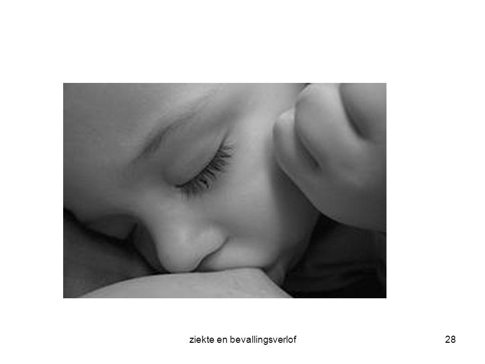 ziekte en bevallingsverlof28