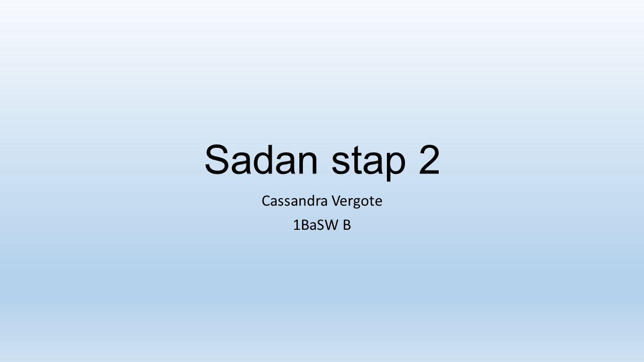 Sadan stap 2 Cassandra Vergote 1BaSW B