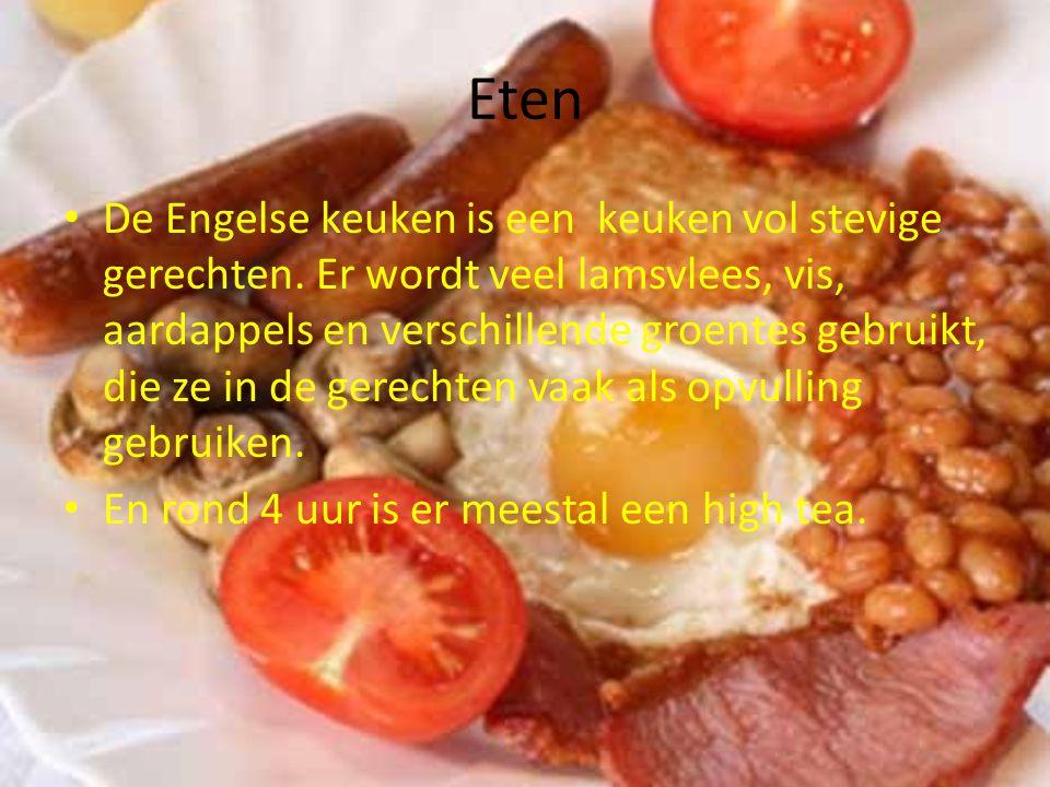 Eten De Engelse keuken is een keuken vol stevige gerechten.