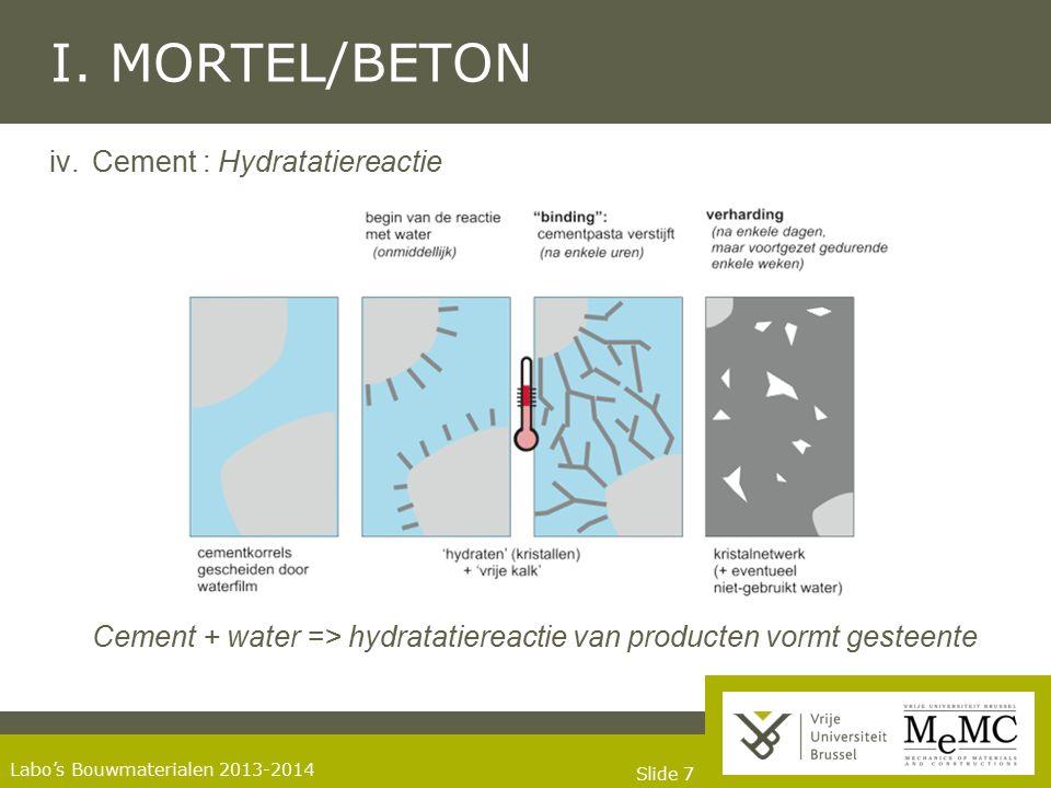Slide 18 Labo's Bouwmaterialen 2013-2014 I.