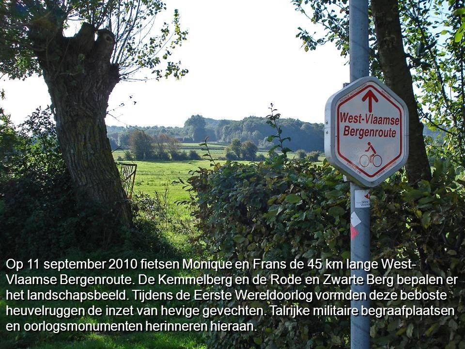 Op 11 september 2010 fietsen Monique en Frans de 45 km lange West- Vlaamse Bergenroute.