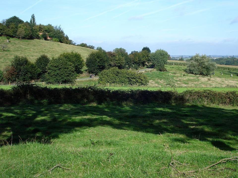 Vanaf de Rode Berg een mooi zicht op Westouter met in de verte Poperinge