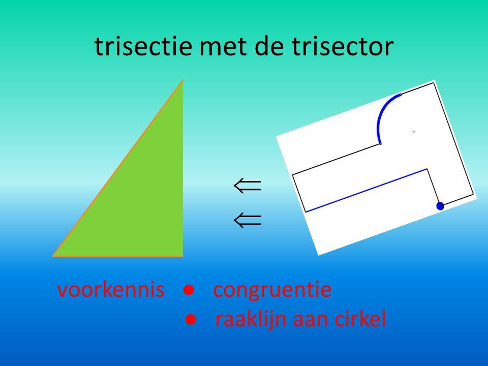 trisectie met origami voorkennis ● eigenschap bissectrice ● congruentie