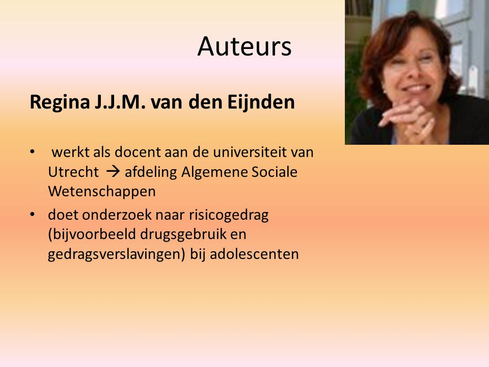 Auteurs Regina J.J.M.