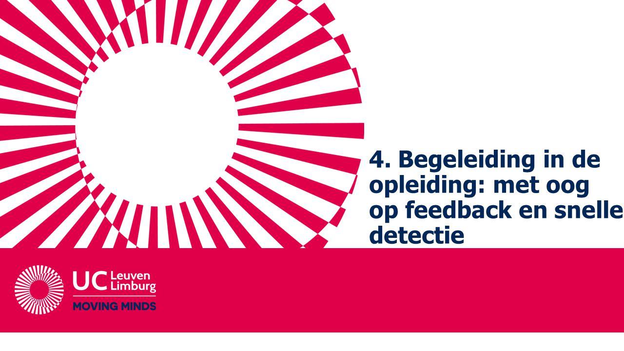 4. Begeleiding in de opleiding: met oog op feedback en snelle detectie