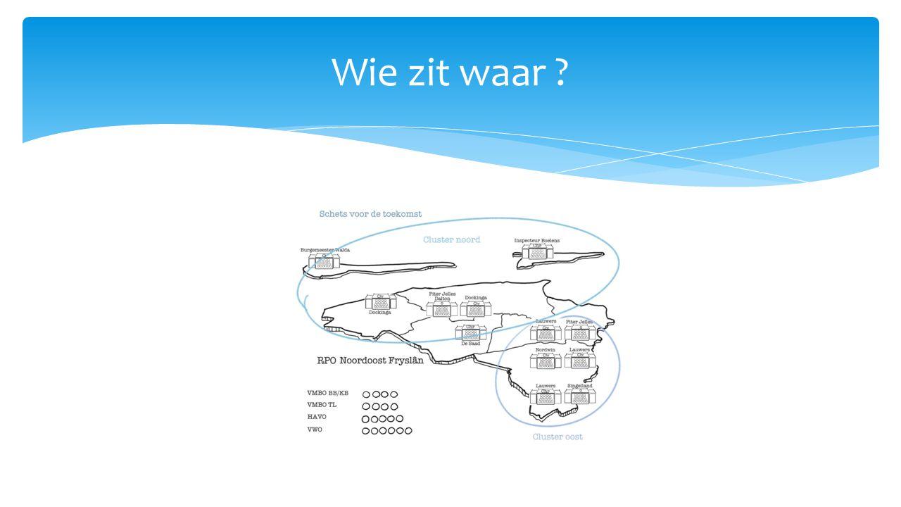 Dokkum:Dockinga x Piter Jelles (Leeuwarden en NW Friesland) (vmbo) Dockinga x Lauwerscollege (vwo) Dockinga x de Saad (vmbo T) Buitenpost Lauwerscollege x Dockinga (vwo) Lauwerscollege x Nordwin (AOC geheel Friesland) KollumLauwerscollege x Piter Jelles SurhuisterveenLauwerscollege x OSG Singelland (vmbo) (samenwerkingslocatie………….gedoogconstructie) Waar wordt samengewerkt en door wie?