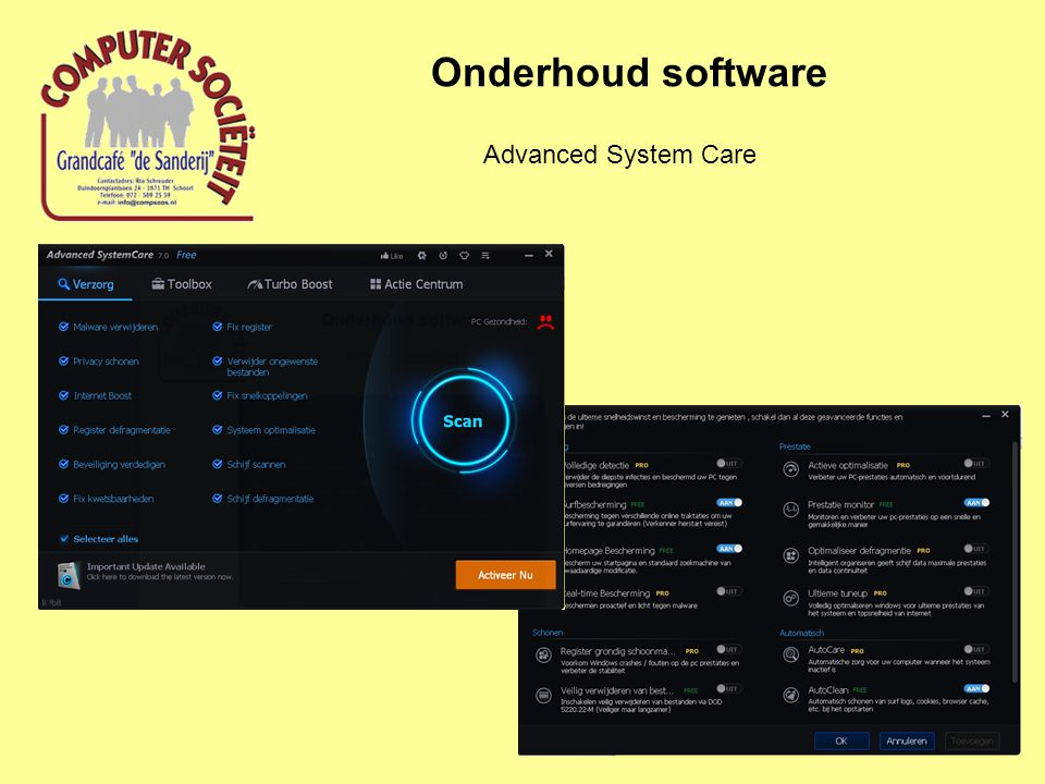 Onderhoud software Advanced System Care