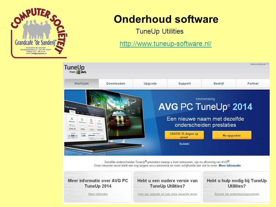 Onderhoud software TuneUp Utilities http://www.tuneup-software.nl/