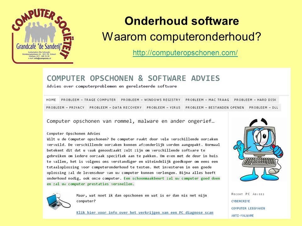 Onderhoud software Advanced System Care