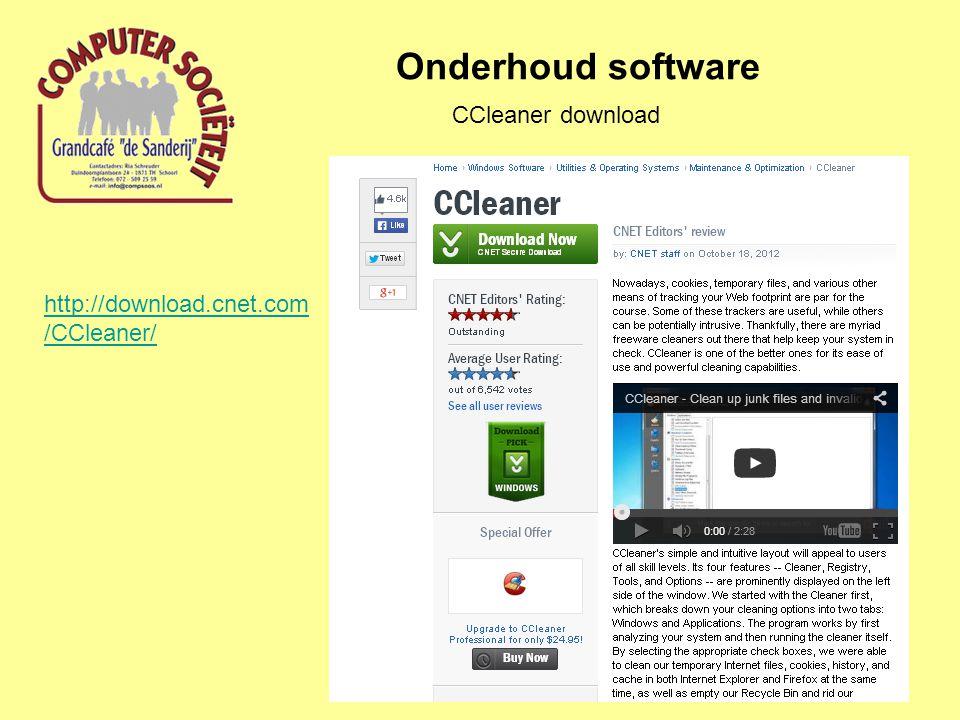 Onderhoud software Advanced System Care download http://download.cnet.com/Advanced- SystemCare/3000-2086_4-10407614.html
