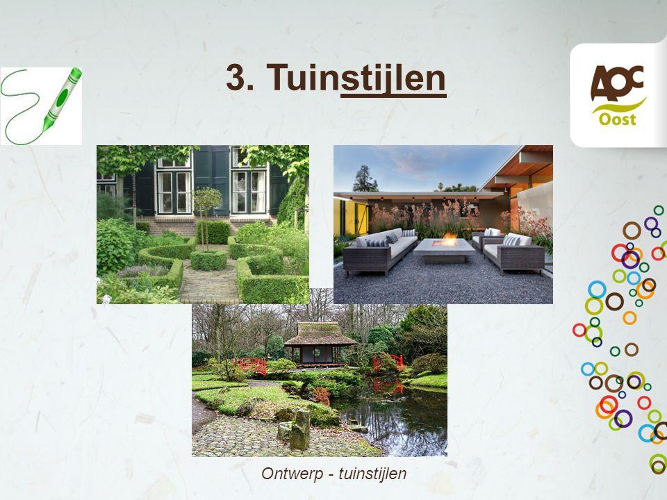 3. Tuinstijlen Ontwerp - tuinstijlen