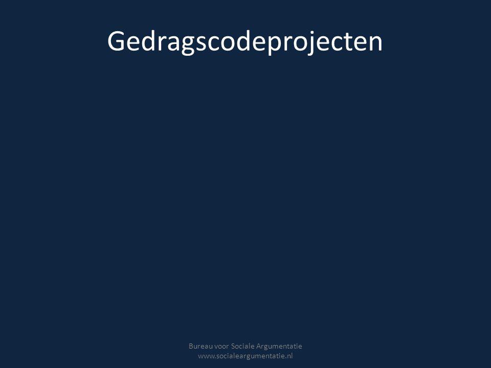 Gedragscodeprojecten Bureau voor Sociale Argumentatie www.socialeargumentatie.nl