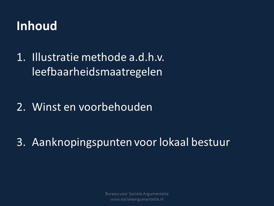 Leefbaarheidsbeleid fysiek en repressief… Bureau voor Sociale Argumentatie www.socialeargumentatie.nl