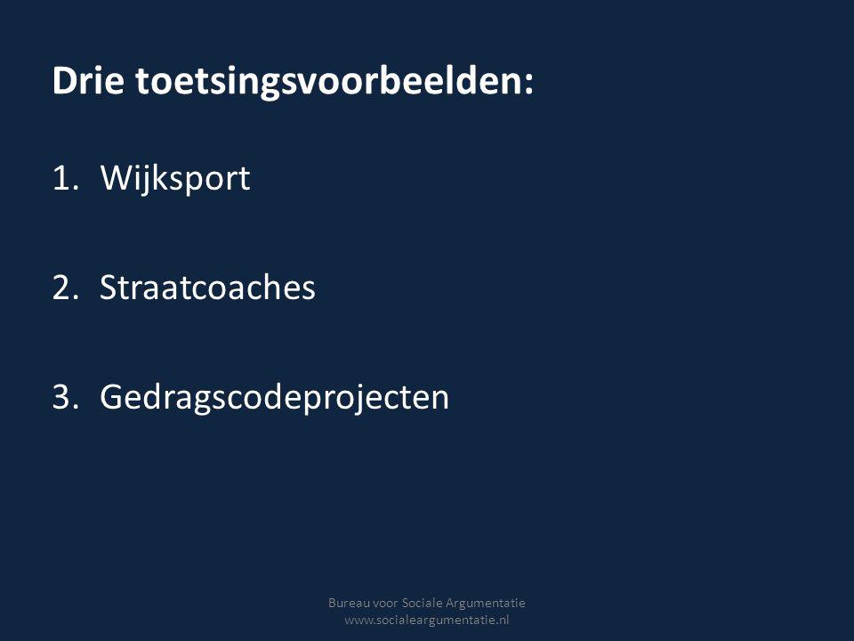 Voorbeeld Wijksport Goed georganiseerde en begeleide sport kan leiden tot vergrote zelfwaardering en verbeterde sociale vaardigheden.