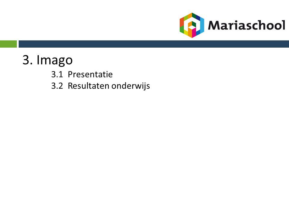3. Imago 3.1 Presentatie 3.2 Resultaten onderwijs