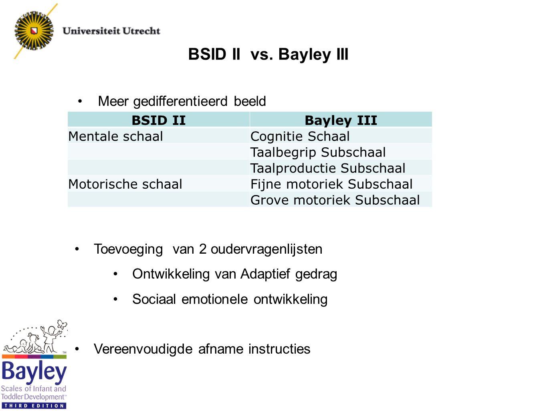Datum 02-12-2011 faculteit gedrags- en maatschappijwetenschappen orthopedagogiek Bayley-III Special Needs Addition (SNA)