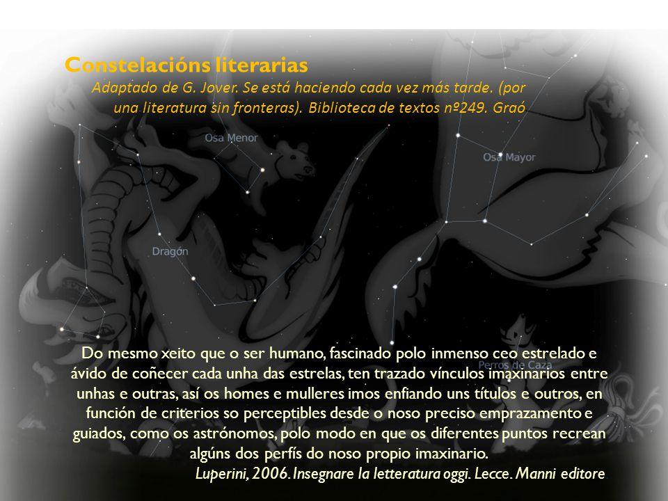 Constelacións literarias Adaptado de G. Jover. Se está haciendo cada vez más tarde.