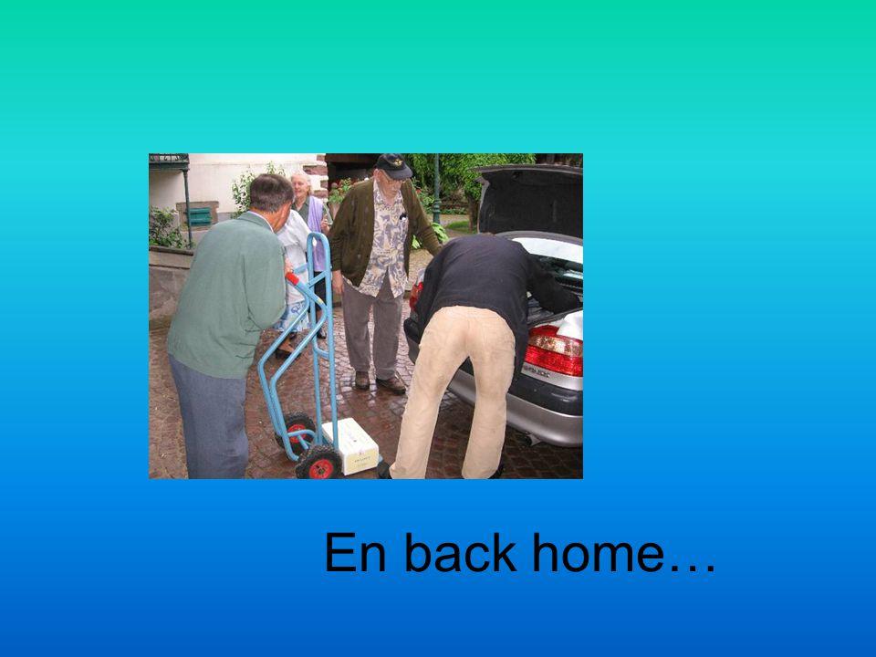 En back home…