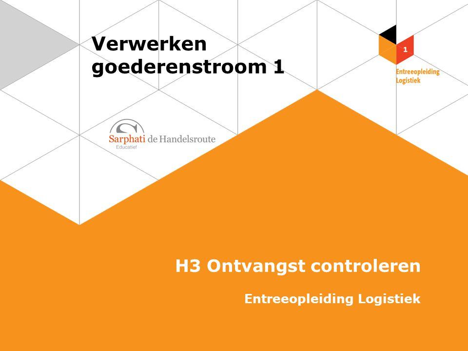 Verwerken goederenstroom 1 H3 Ontvangst controleren Entreeopleiding Logistiek
