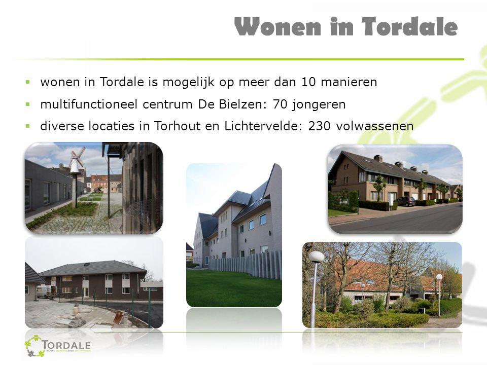 Wonen in Tordale  wonen in Tordale is mogelijk op meer dan 10 manieren  multifunctioneel centrum De Bielzen: 70 jongeren  diverse locaties in Torho