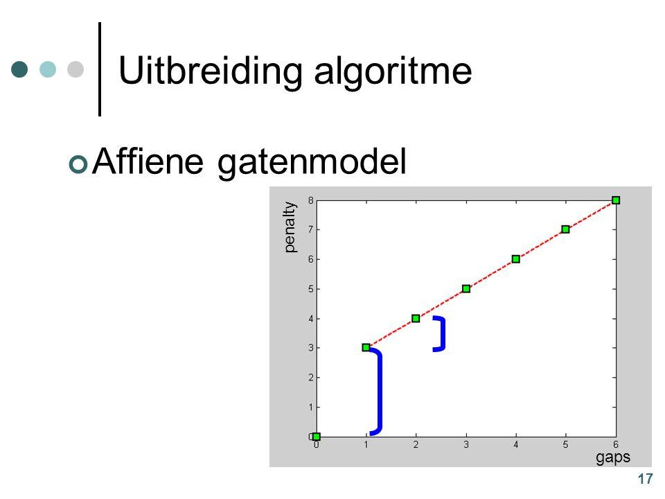 17 Uitbreiding algoritme Affiene gatenmodel penalty gaps