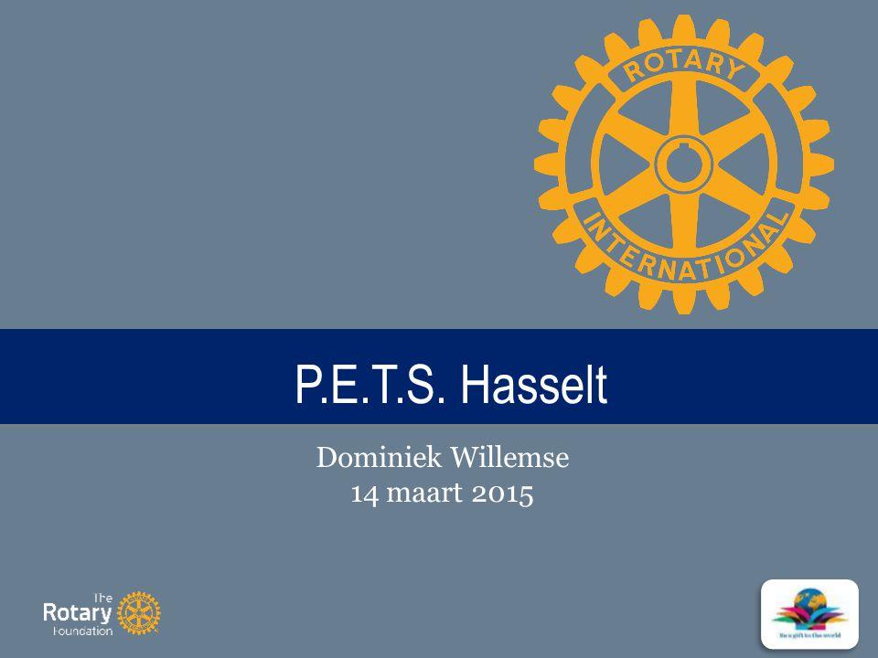 TITLE P.E.T.S. Hasselt Dominiek Willemse 14 maart 2015