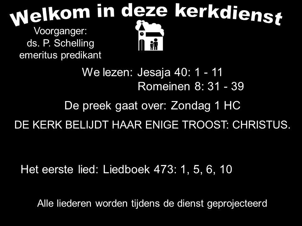 De volgende kerkdienst is, zo de Here wil, zondag 15 december om 9.30 uur. Van harte welkom.....