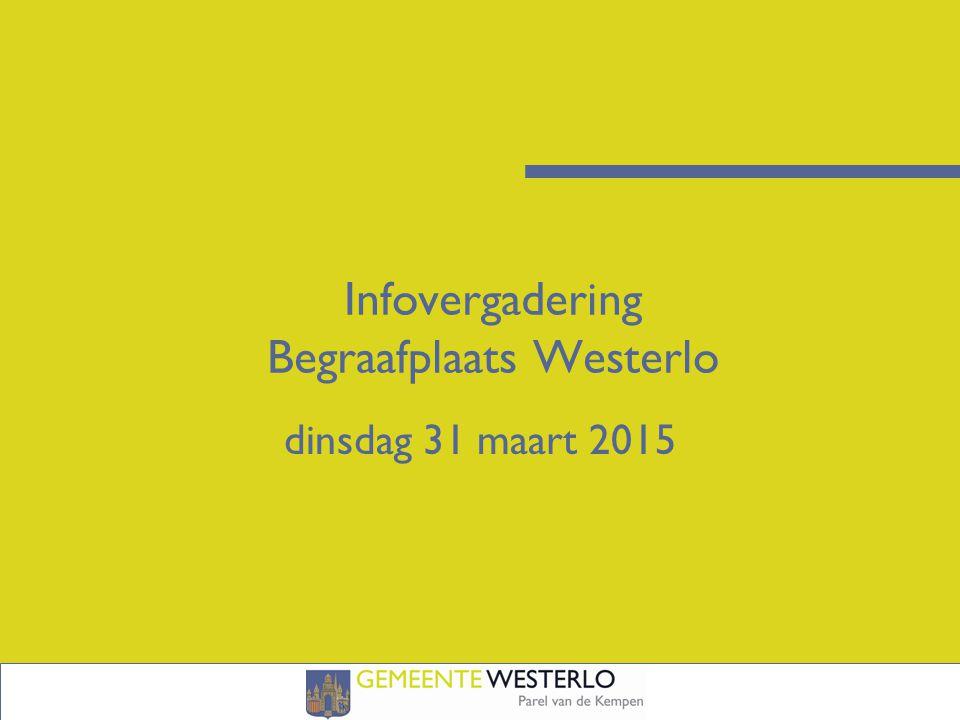 Infovergadering Begraafplaats Westerlo dinsdag 31 maart 2015