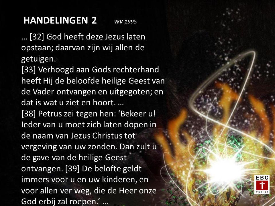 … [32] God heeft deze Jezus laten opstaan; daarvan zijn wij allen de getuigen.