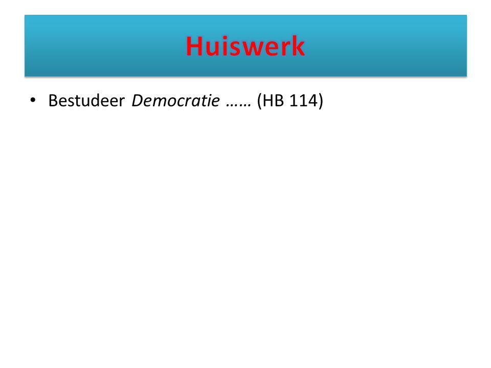 Bestudeer Democratie …… (HB 114)
