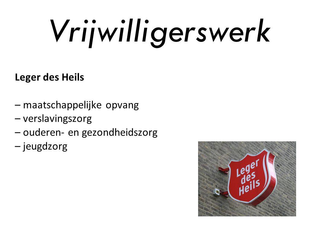 Vrijwilligerswerk Leger des Heils – maatschappelijke opvang – verslavingszorg – ouderen- en gezondheidszorg – jeugdzorg