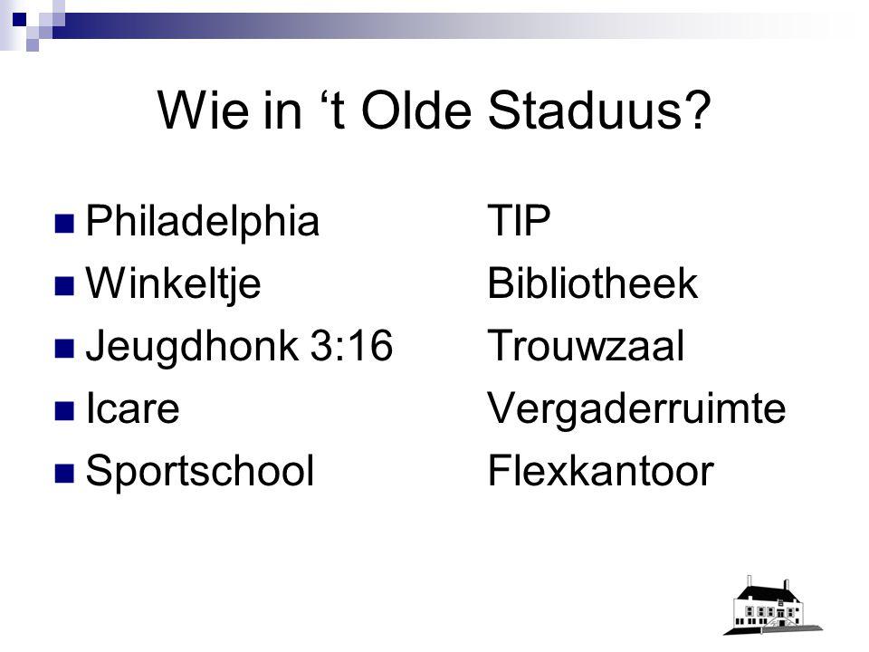 t Olde Staduus als middelpunt bij centrumplan Genemuiden