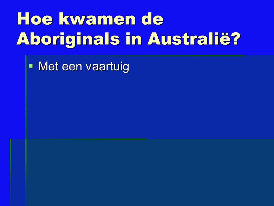 Hoe kwamen de Aboriginals in Australië?  Met een vaartuig