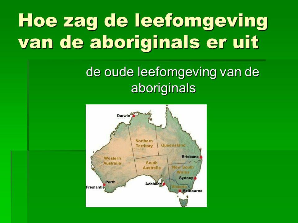 Hoe zag de leefomgeving van de aboriginals er uit de oude leefomgeving van de aboriginals
