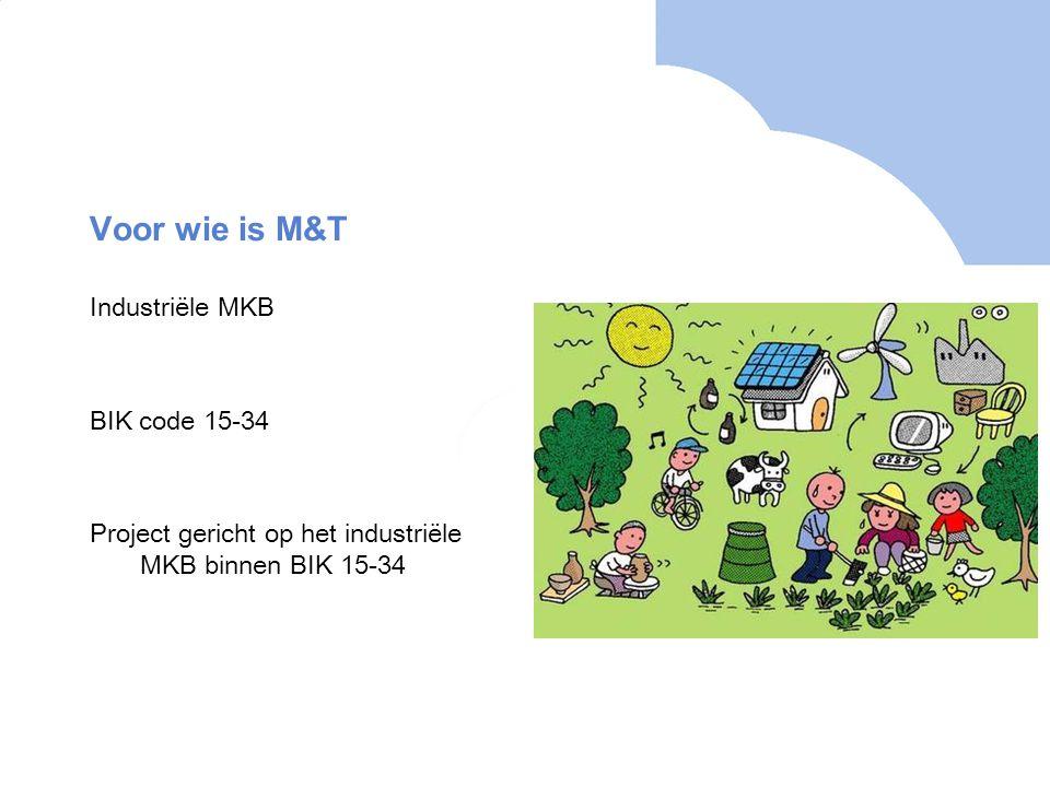 Voor wie is M&T Industriële MKB BIK code 15-34 Project gericht op het industriële MKB binnen BIK 15-34