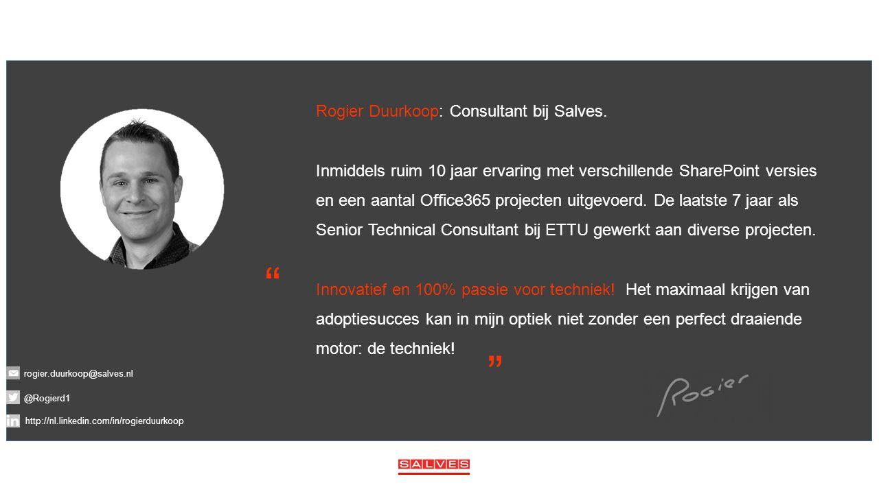 Rogier Duurkoop: Consultant bij Salves.